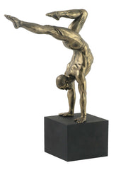 Male Gymnast On Plinth- Handstand W/ Toes Pointing Back(Mbz+Color) - Yoga, Performance Art