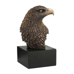 eagle-head-on-plinth-bronze-americana