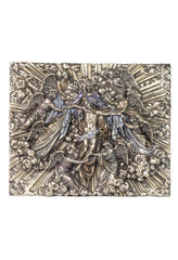 Madonna Holding Jesus With Angels Wall Plaque (Mbz+Color) - Religious