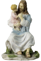 Jesus Holding A Child (Light Color) - Religious