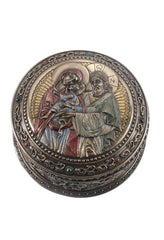 Holy Family Round Trinket Box - Religious