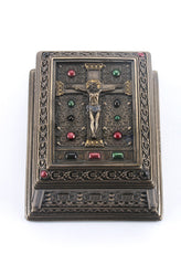 Crucifixion Square Trinket Box - Religious