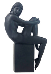 Nude Female On Plinth-75914 (Black) - Artistic Body
