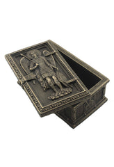 St Michael Framed Trinket Box - Religious