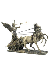 Nike With Trumpet On Two-Horse Chariot (Mbz+Color) - Myth & Legend