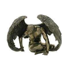 Winged Nude Male Sitting With Hands On The Floor (Mbz) - Artistic Body