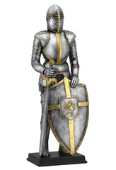 Medieval Armor With Sword And Lion Crest On Shield - Knights & Warriors