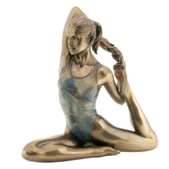 Yoga - King Pigeon Pose - Yoga, Performance Art Sculpture - Polystone