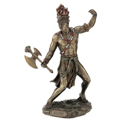 Chango - God Of Fire, Thunder, Lightening And War - Ethnic Collectibles Sculpture - Cold Cast Bronze