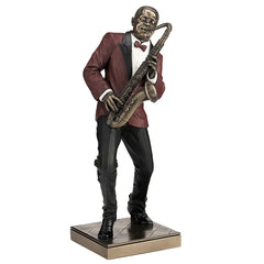 Saxophone Player - Americana Sculpture - Cold Cast Bronze