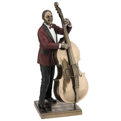Double Bass Player - Americana Sculpture - Cold Cast Bronze