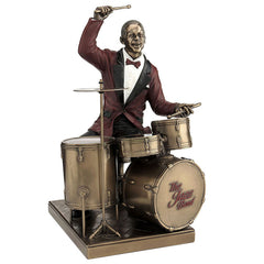 Drum Player - Americana Sculpture - Cold Cast Bronze