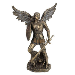 St Michael Standing On Demon With Sword And Shield - Religious