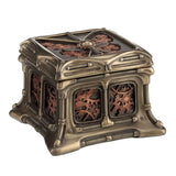 Steampunk Butterfly And Gears Trinket Box (Bronze + Copper) - Myth & Legend