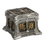 Steampunk Butterfly And Gears Trinket Box (Steel + Brass) - Home Accent Sculpture - Cold Cast Pewter