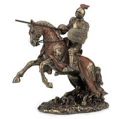 Jousting Armored Knight With Eagle Emblem - Knights & Warriors