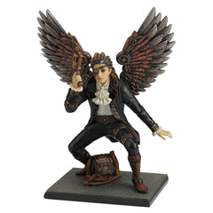 Steampunk Winged Man With Hand Gun - Myth & Legend Sculpture - Polystone