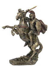Alexander The Great On Horseback - Famous People Sculpture - Cold Cast Bronze