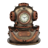 Diving Helmet Clock (Mbz + Copper) - Steampunk