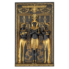 EGYPTIAN PHARAOH AND HIS MAIDENS PLAQUE