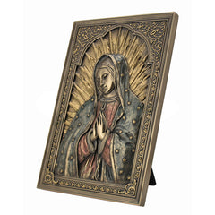 Iconic Style Blessed Virgin Mary Wall Plaque - Religious