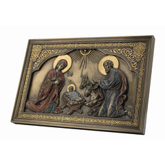 Iconic Style Nativity Wall Plaque - Religious