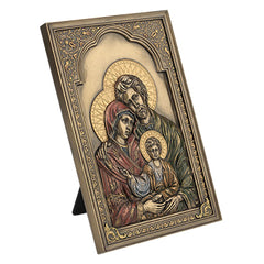 Iconic Style Holy Family Wall Plaque - Religious