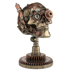 Steampunk Skull On Gear Stand - Myth & Legend