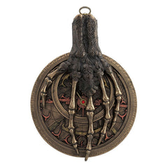 Laced Skeletal Hand On Astrolabe Wall Plaque - Myth & Legend