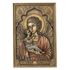 Guardian Angel Holding Child - Iconic Style Wall Plaque - Religious