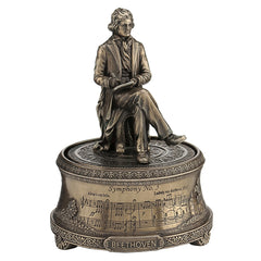 Ludwig Van Beethoven Music Box - Famous People Sculpture - Cold Cast Bronze