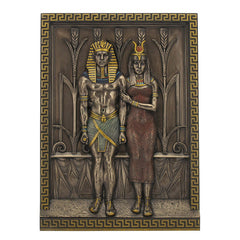 Egyptian Pharaoh Menkaure And His Queen Khamerernebty Wall Plaque - Home Accent