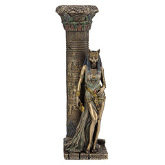 Egyptian Goddess Bastet Leaning On A Pillar - Egyptian