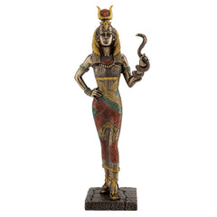 Egyptian Goddess - Hathor Holding A Snake - Egyptian