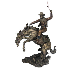 Cowboy - Classic Rodeo - Americana Sculpture - Cold Cast Bronze