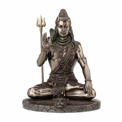 Meditating Shiva Ethnic Sculpture