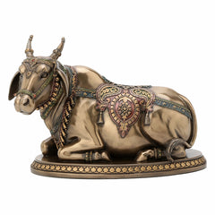 Nandi - The Gatekeeper Of Shiva And Parvati Ethnic Sculpture