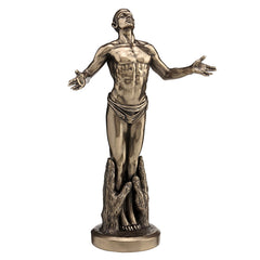Nude Male Standing In Palms - Artistic Body Sculpture - Cold Cast Bronze