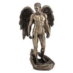 Winged Nude Male Standing On Open Palm - Artistic Body