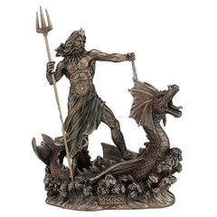 Poseidon With Trident Standing On Hippocampus - Myth & Legend