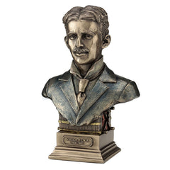Nikola Tesla - Americana Sculpture - Cold Cast Bronze