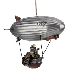 Steampunk Airship With Steamship Gondola - Myth & Legend Sculpture - Cold Cast Pewter