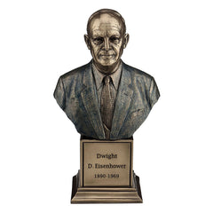 Dwight David Eisenhower - Americana Sculpture - Cold Cast Bronze