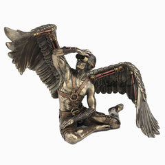 Steam Punk Winged Nude Male Sitting With Right Wing Extended - Artistic Body