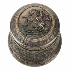 St George Slaying Dragon Trinket Box - Religious
