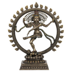 Dancing Shiva - The Lord Of The Dance Bronze Finish Ethnic Sculpture