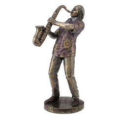 Jazz Band Casual - Saxophonists - Americana Sculpture - Cold Cast Bronze