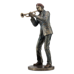 Jazz Band Casual - Trumpet Player - Americana Sculpture - Cold Cast Bronze