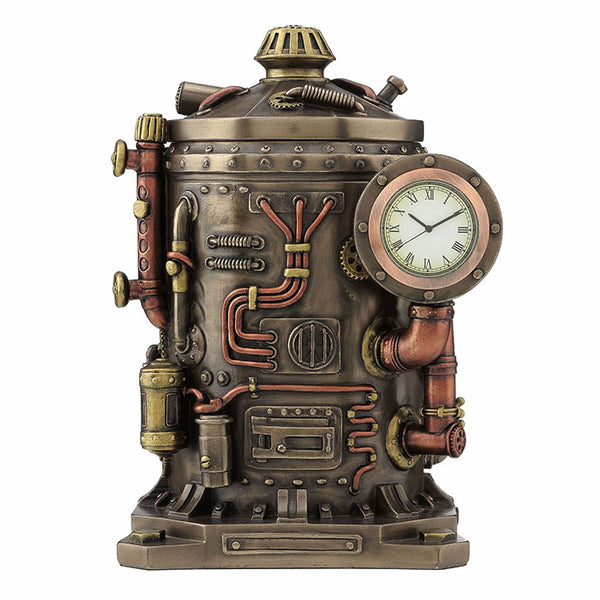 Steampunk Mysterious Container Clock - Home Accent