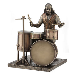 Jazz Band Casul - Drummer - Americana Sculpture - Cold Cast Bronze